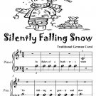Silently Falling Snow Beginner Piano Sheet Music Tadpole Edition PDF