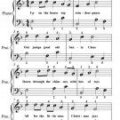 Up on the House Top Easiest Piano Sheet Music PDF
