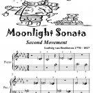 Moonlight Sonata Second Movement Beginner Piano Sheet Music Tadpole Edition PDF