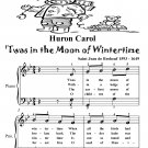 Huron Carol Twas In the Moon of Wintertime Easy Piano Sheet Music Tadpole Edition PDF