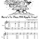 Here's To Thee Old Apple Tree Easy Piano Sheet Music Tadpole Edition PDF