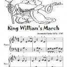 King William's March Beginner Piano Sheet Music PDF