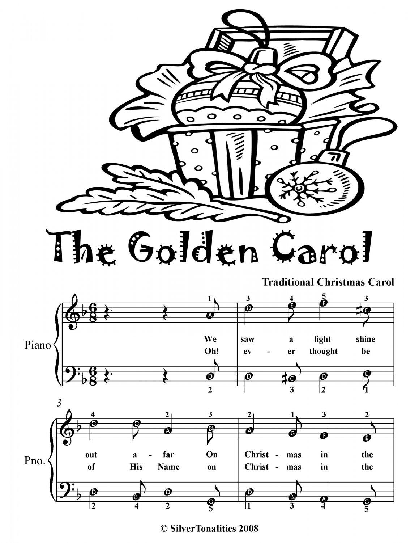 Golden Carol Easy Piano Sheet Music Tadpole Edition PDF