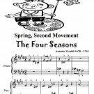 Spring Second Movement Four Seasons Beginner Piano Sheet Music PDF