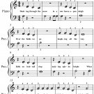 Jingle Bells Beginner Piano Sheet Music PDF