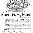 Fum Fum Fum Easy Piano Sheet Music Tadpole Edition PDF