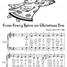 From Every Spire On Christmas Eve Easy Piano Sheet Music Tadpole Edition PDF