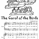 Carol of the Birds Easy Piano Sheet Music Tadpole Edition PDF