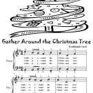 Gather Around the Christmas Tree Easy Piano Sheet Music Tadpole Edition PDF