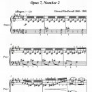 To a Humming Bird Opus 7 Number 2 Easy Piano Sheet Music PDF