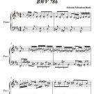 Invention Number 15 BWV 786 Easy Piano Sheet Music PDF
