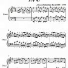 Invention Number 10 BWV 781 Easy Piano Sheet Muisc PDF