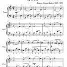 Graduation Waltz Opus 221 Easiest Piano Sheet Music PDF