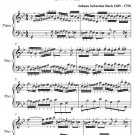 Invention Number 11 BWV 782 Easy Piano Sheet Music PDF