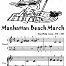 Manhattan Beach March Beginner Piano Sheet Music Tadpole Edition PDF
