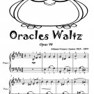 Oracles Waltz Opus 90 Easiest Piano Sheet Music Tadpole Edition PDF