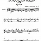 In the Hall of the Mountain King Easy Violin Sheet Music PDF
