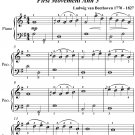 Sonatina Number 1 First Movement Anh 5 Easiest Piano Sheet Music PDF