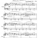 Slavonic Dance Opus 46 Number 1 Easy Piano Sheet Music PDF