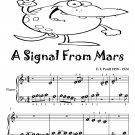 A Signal From Mars Beginner Piano Sheet Music Tadpole Edition PDF