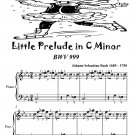 Little Prelude In C Minor Bwv 999 Easiest Piano Sheet Music Tadpole Edition PDF