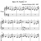 Waltz Opus 39 Number 15 Beginner Piano Sheet Music PDF