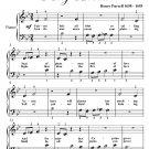 Fairest Isle King Arthur Beginner Piano Sheet Music PDF