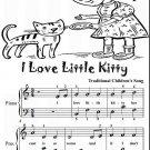 I Love Little Kitty Easiest Piano Sheet Music Tadpole Edition PDF