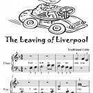 The Leaving of Liverpool Beginner Piano Sheet Music Tadpole Edition PDF