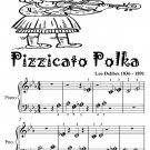 Pizzicato Polka Beginner Piano Sheet Music Tadpole Edition PDF