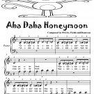 Aba Daba Honeymoon Beginner Piano Sheet Music Tadpole Edition PDF