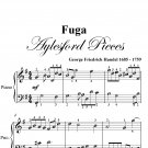Fuga Aylesford Pieces Easy Piano Sheet Music PDF