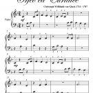 Dance of the Blessed Spirits Beginner Piano Sheet Music PDF