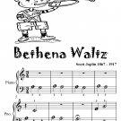 Bethena Waltz Beginner Piano Sheet Music Tadpole Edition PDF