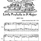 Little Prelude in D Major Bwv 936 Easiest Piano Sheet Music Tadpole Edition PDF
