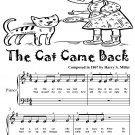 The Cat Came Back Beginner Piano Sheet Music Tadpole Edition PDF