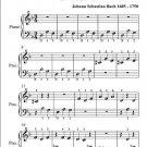 Littlest Prelude in D Minor BWV 926 Beginner Piano Sheet Music PDF
