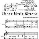 Three Little Kittens Beginner Piano Sheet Music Tadpole Edition PDF