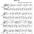 Snowdrops Waltz Opus 143 Easiest Piano Sheet Music PDF