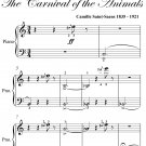 People With Long Ears Carnival of the Animals Easy Piano Sheet Music PDF