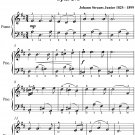 Editorial Waltz Opus 273 Easiest Piano Sheet Music PDF