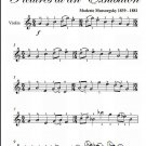 Promenade Pictures at an Exhibition Easy Violin Sheet Music PDF