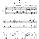 Mazurka Opus 7 Number 2 Easy Intermediate Piano Sheet Music PDF
