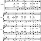 Rose of Allendale Easy Piano Sheet Music PDF