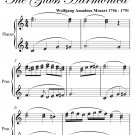 Adagio in C Major Glass Harmonica Elementary Piano Sheet Music PDF