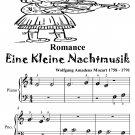 Romance Eine Kleine Nachtmusik Beginner Piano Sheet Music Tadpole Edition PDF