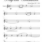 Land of Hope and Glory Easy Violin Sheet Music PDF