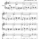 Dolores Waltz Easy Piano Sheet Music PDF