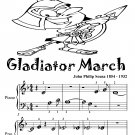 Gladiator March Beginner Piano Sheet Music PDF