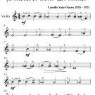 Dance Bacchanale Samson and Delilah Easy Violin Sheet Music PDF